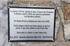 Plaque du glacier d'Arriel